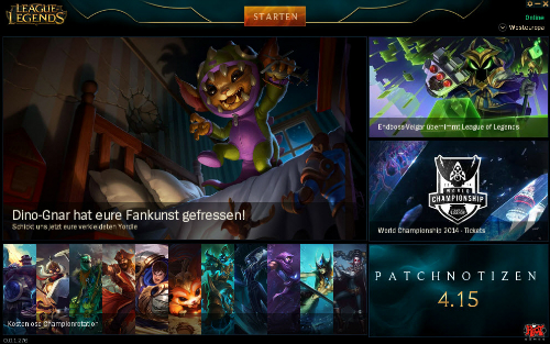 league of legends startet nicht