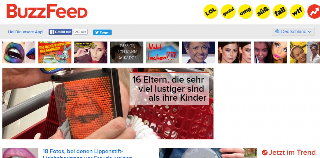 Alternative zu 9GAG: BuzzFeed