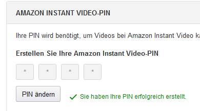 amazon.de/pin ändern