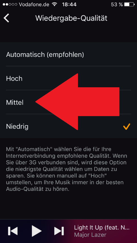 Amazon Prime Music: Datenverbauch