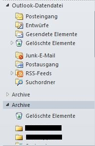 Archive in Outlook
