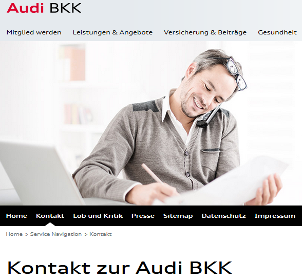 audi bkk kontaktieren adresse und service hotline chip. Black Bedroom Furniture Sets. Home Design Ideas