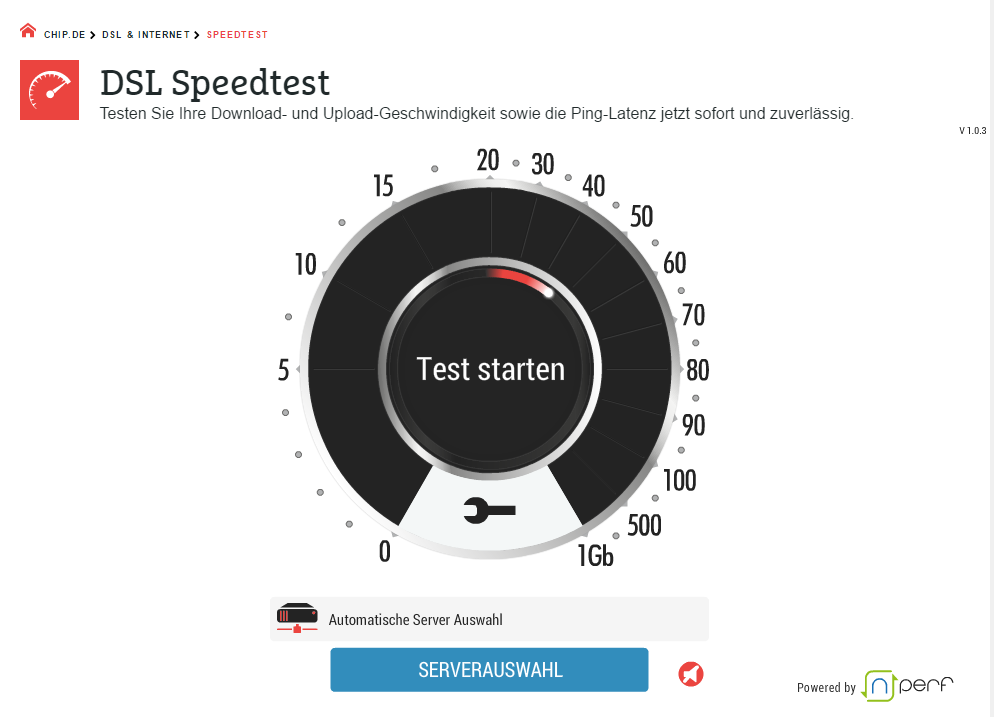 CHIP Speedtest: Internetverbindung