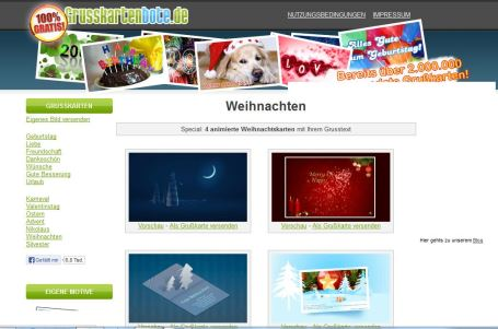 ecards zu weihnachten verschicken diese anbieter gibt s. Black Bedroom Furniture Sets. Home Design Ideas