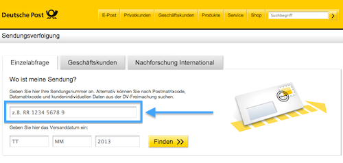 einschreiben dhl verfolgen tracking support. Black Bedroom Furniture Sets. Home Design Ideas