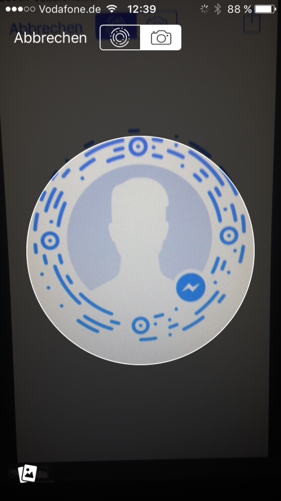 Facebook Messenger: Code scannen