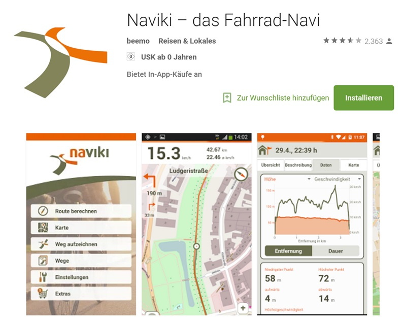 fahrrad navi die 3 besten apps f r android und ios chip. Black Bedroom Furniture Sets. Home Design Ideas
