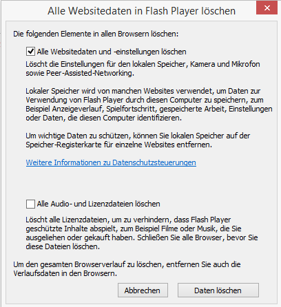 flash player funktioniert nicht richtig