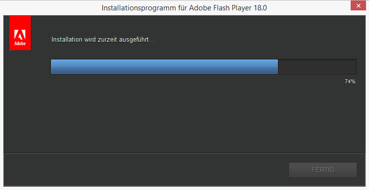 kann kein flash player installieren