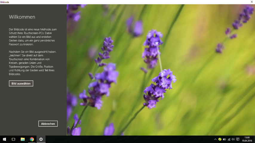 Foto-Login unter Windows 10