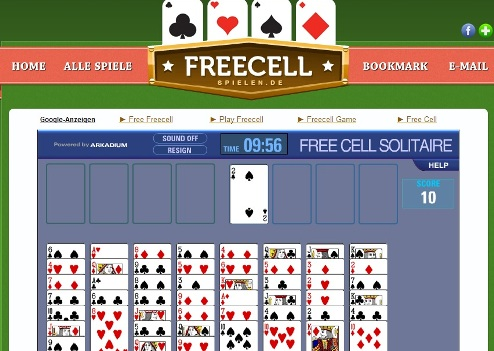 freecell ohne anmeldung