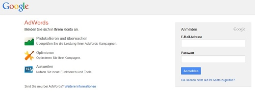 Funktionen: Google Adwords Mobile