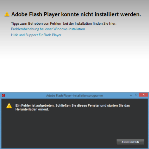 adobe flash player funktioniert nicht