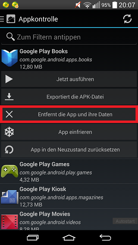 android play books app l schen so geht s chip. Black Bedroom Furniture Sets. Home Design Ideas