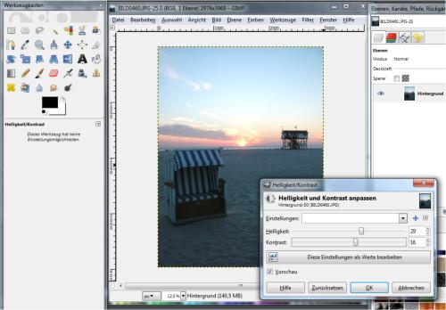 Gratis-Software Gimp