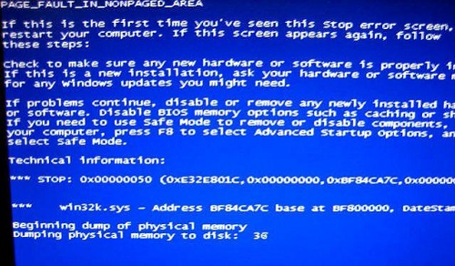 Hilfe: PAGE_FAULT_IN_NONPAGED_AREA