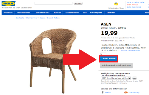 bei ikea online einkaufen so geht s chip. Black Bedroom Furniture Sets. Home Design Ideas