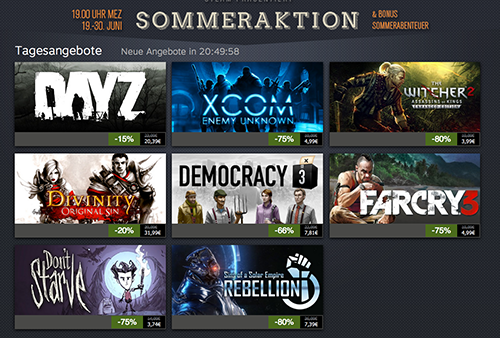 Infos: Steam Summer Sale 2016