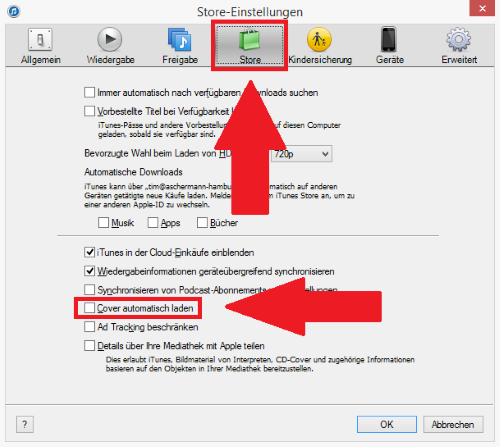 how to turn on itunes match