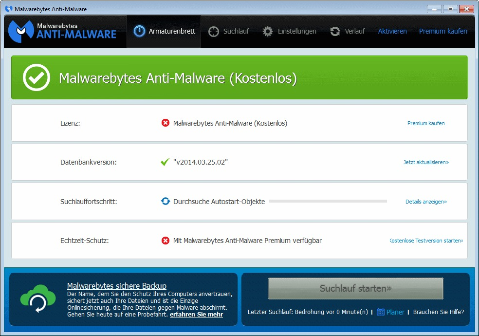 Malwarebytes Anti-Malware. Alternative zu Ad-Aware