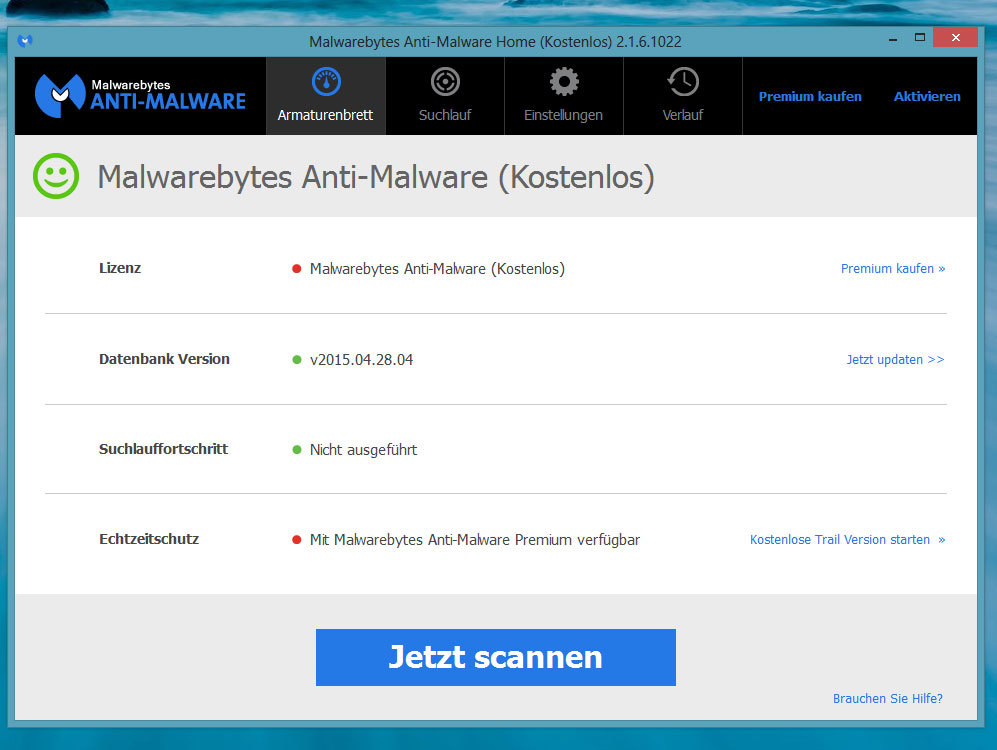 Malwarebytes Anti-Malware: Alternative zu SpyBot