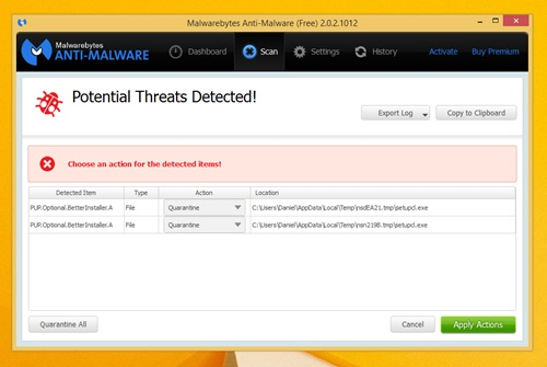 how to add directory exclusion malwarebytes