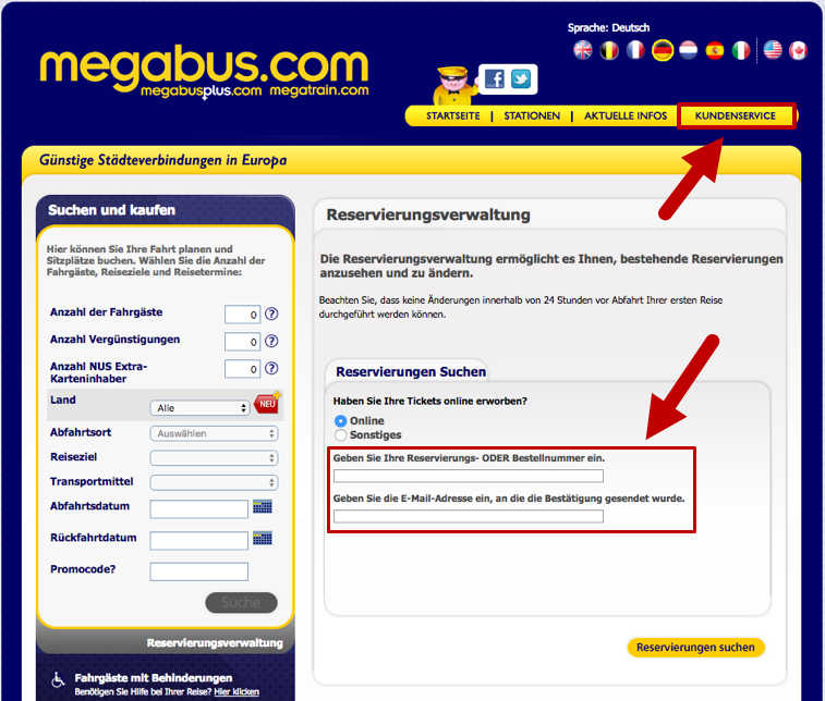 how to buy megabus tickets online