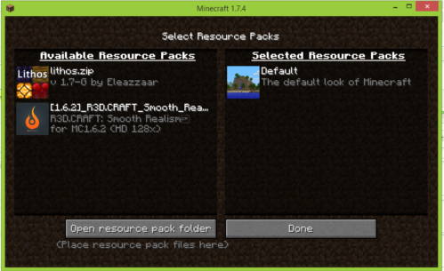 how to accept a server resorce pack