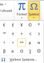 MS Office Symbole