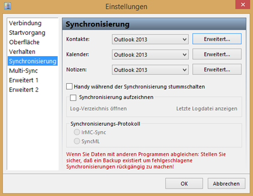 Outlook kalender mit handy synchronisieren