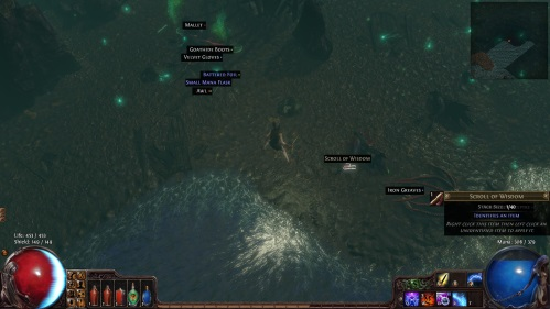 path of exile how to get scroll of wisdom