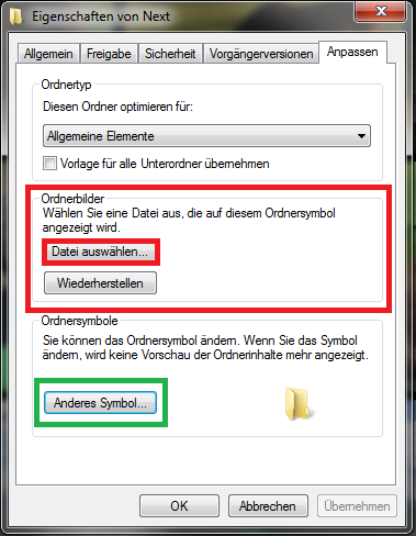 Ordner-Bild in Windows ändern