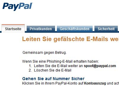 paypal spam so erkennen sie phishing mails. Black Bedroom Furniture Sets. Home Design Ideas