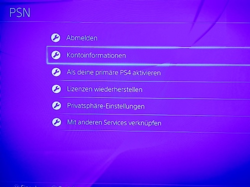 how to change psn password on ps4