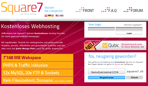 Riesiger Webspace und Traffic-Flat
