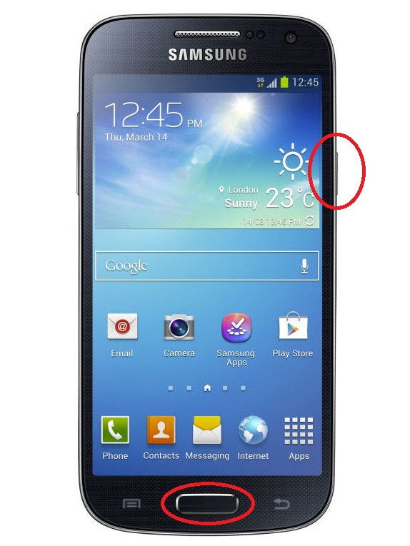 how to get a screenshot on galaxy s4