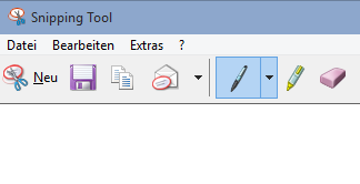 Snipping Tool in Win 10