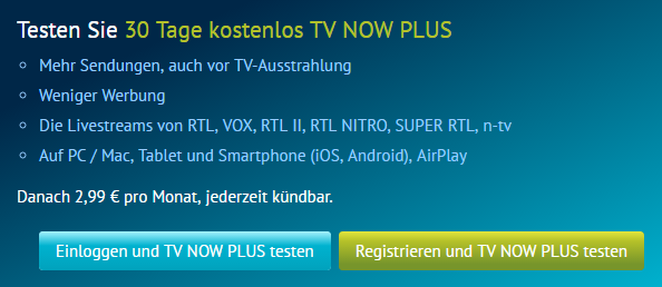 Kosten von TV Now Plus