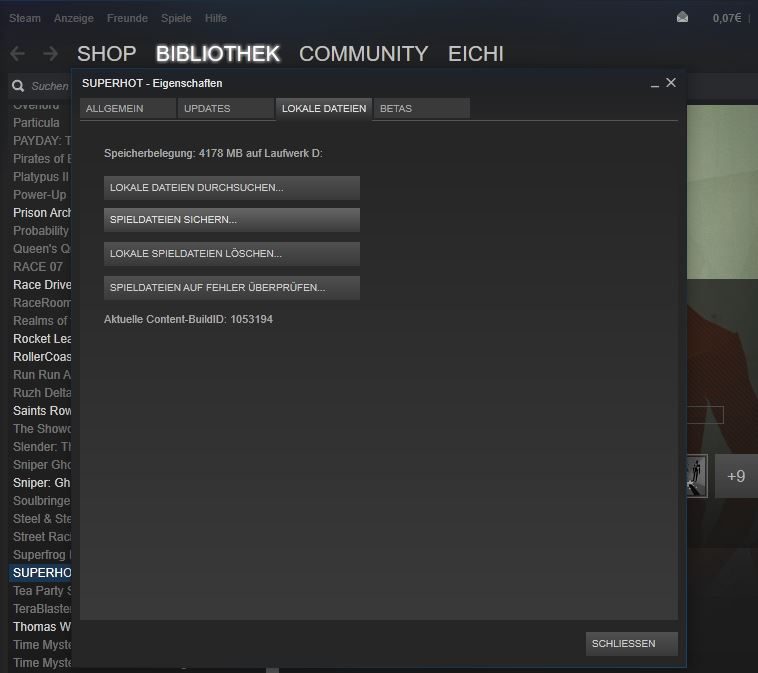 Steam: Games updaten