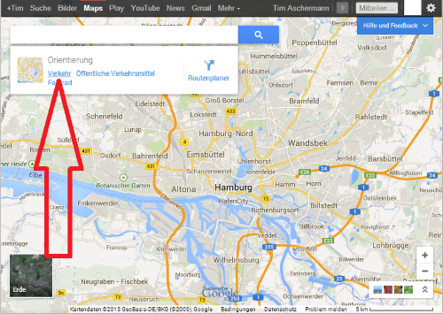 verkehr stauinfo ber google maps chip. Black Bedroom Furniture Sets. Home Design Ideas