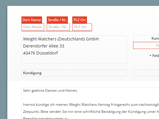 Weight Watchers online kündigen