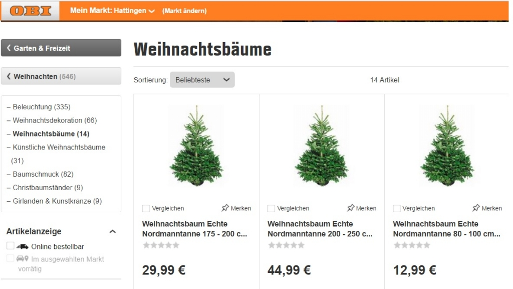 weihnachtsbaum online bestellen so geht 39 s chip. Black Bedroom Furniture Sets. Home Design Ideas