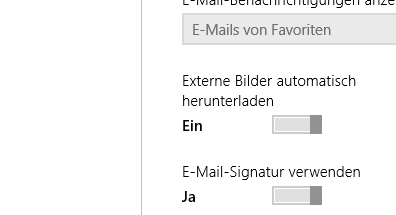 Win 8: Bilder in Mail-App