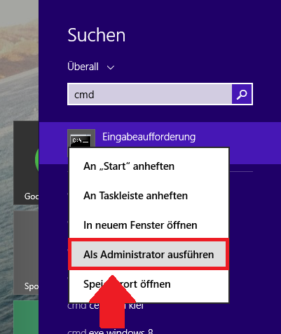how to find cmd windows 10 as administor