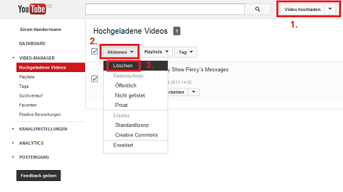 Eigene Youtube Videos L Schen Chip