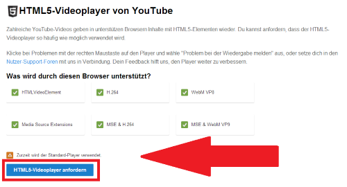 Youtube-Videos ohne Flash schauen
