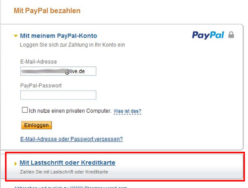 paypal email ohne konto