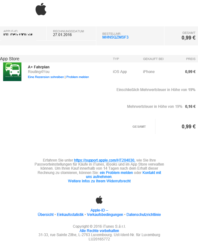 itunes store phishing gef lschte app rechnungen erkennen chip. Black Bedroom Furniture Sets. Home Design Ideas