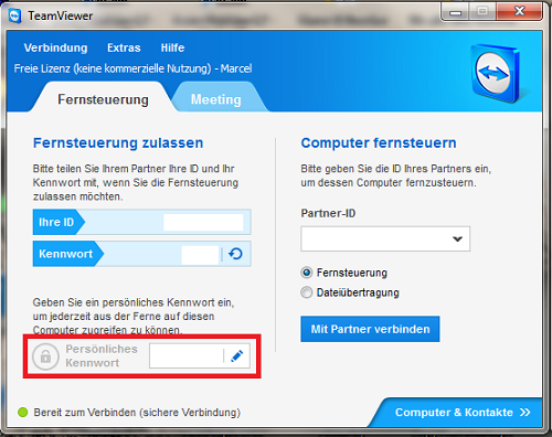 Teamviewer host android password
