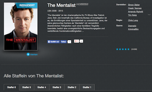 the mentalist staffeln